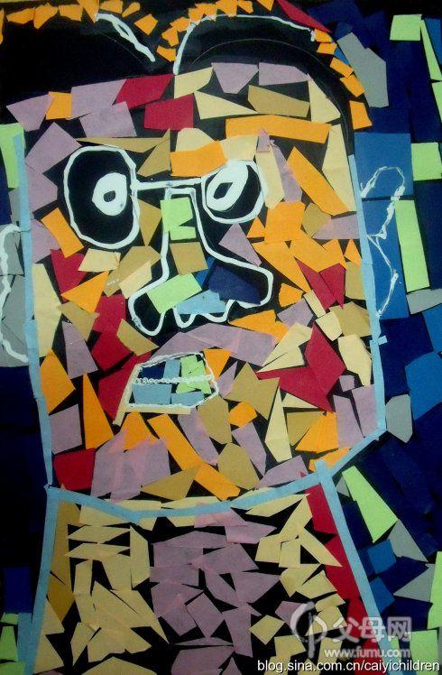 幼儿手工碎纸贴画片